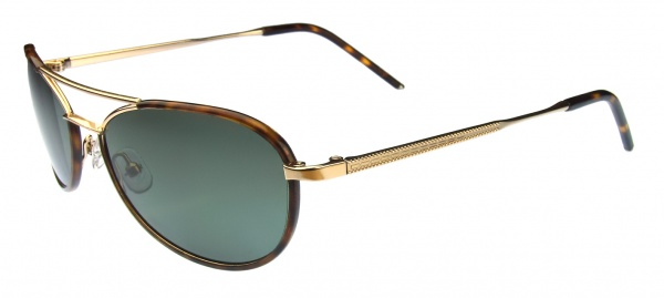 Hackett Sunglasses HSB 081 14P Brown Horn Gold
