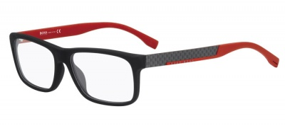 Hugo Boss 0643 Black Carbon Red