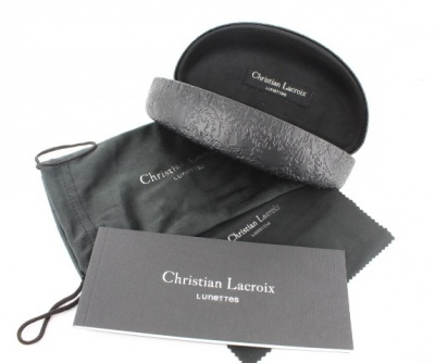 Christian Lacroix Black Sunglasses Case