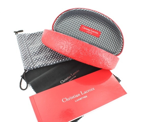 Christian Lacroix Red Sunglasses Case