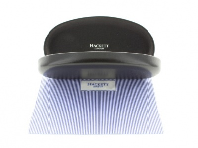 Hackett London Sunglass Case with Striped Cleaning Cloth